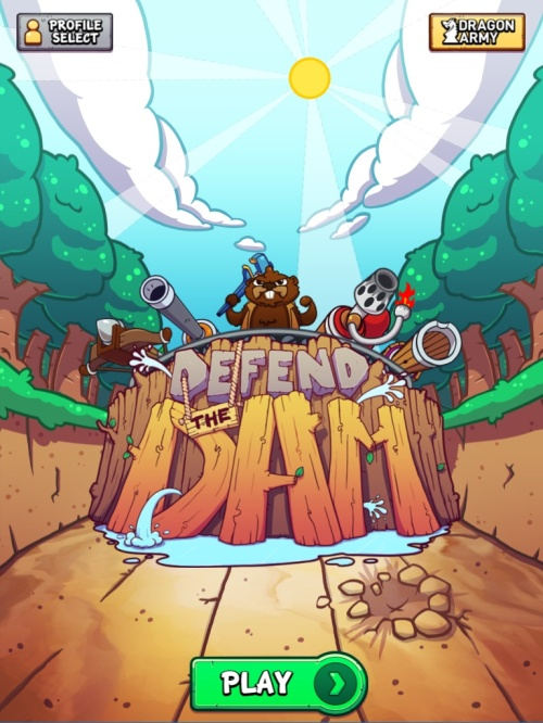 Defend the Dam Title Screen